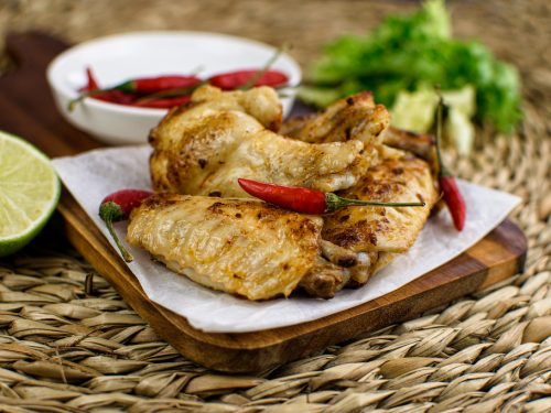 Alitas de pollo con toque picante