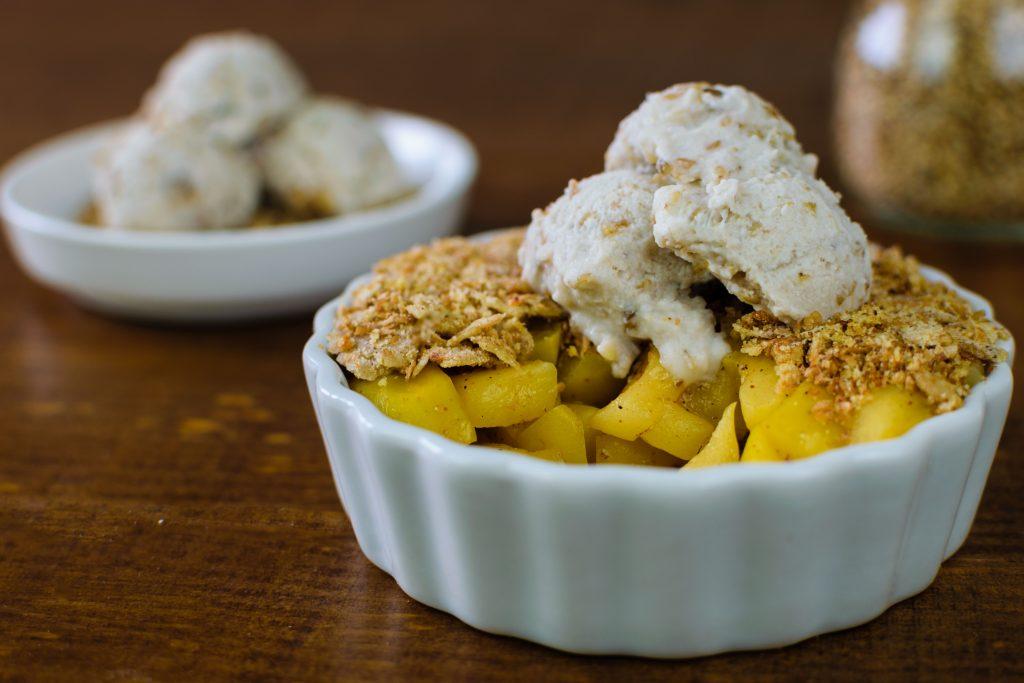 Crumble vegano de manzana sin horno