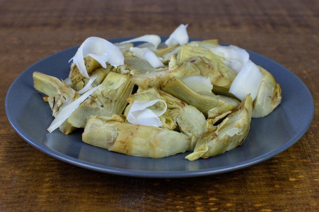 alcachofas salteadas queso