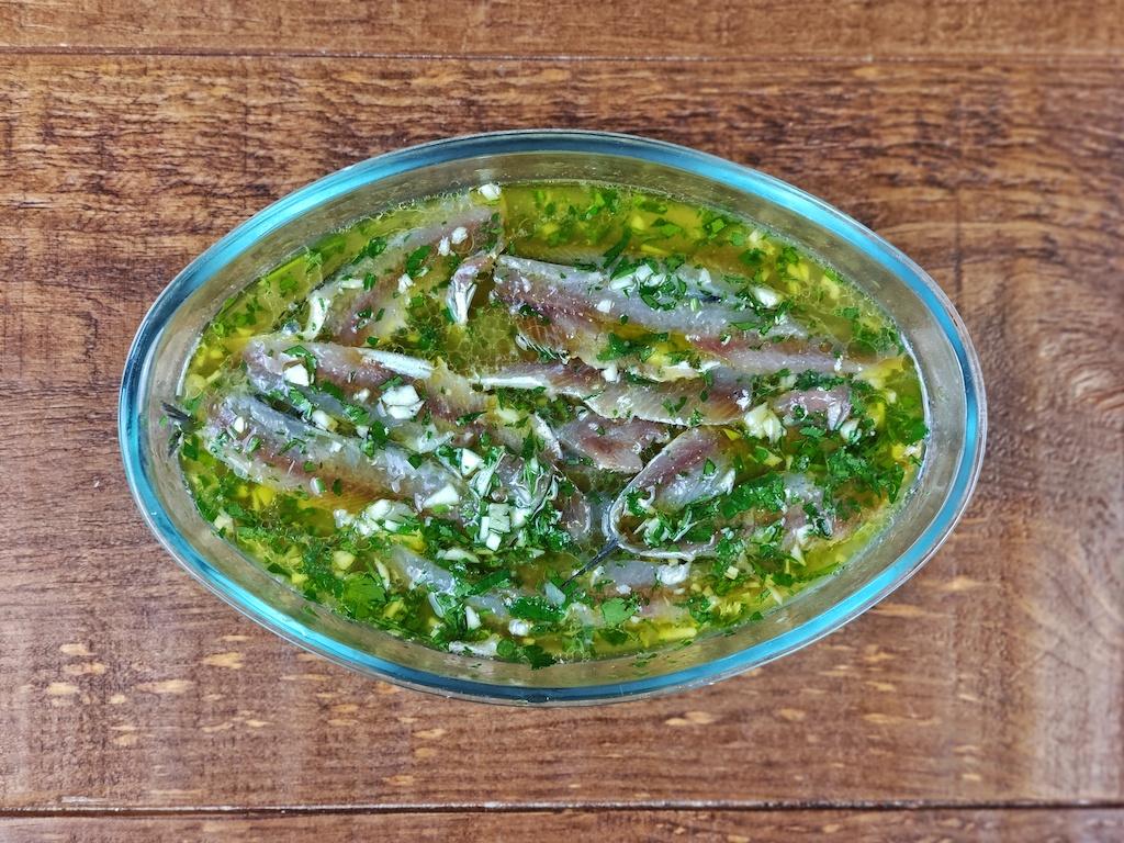 anchoas vinagre