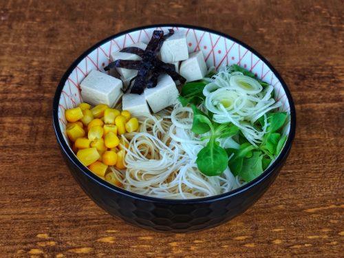 bol frio fideos arroz