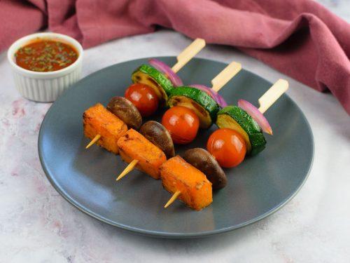brochetas verduras