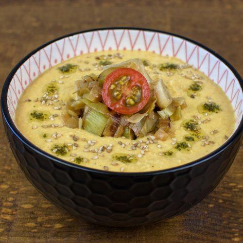crema fria garbanzos zanahoria tahini
