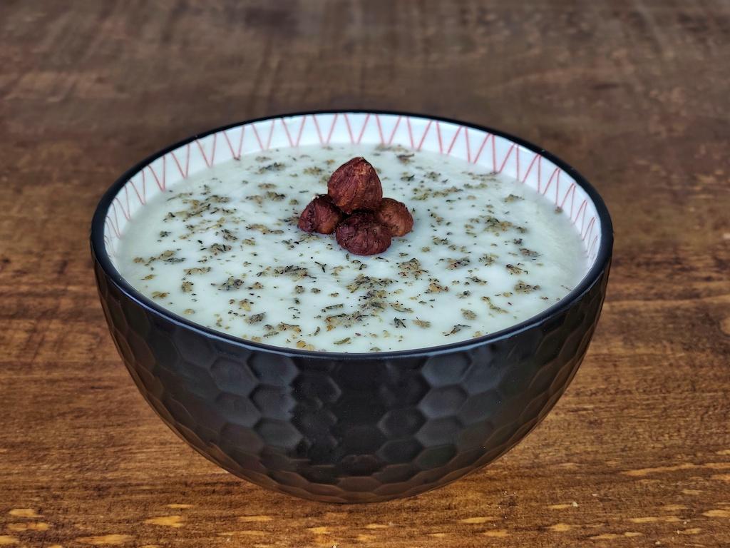 crema fria vegana coliflor