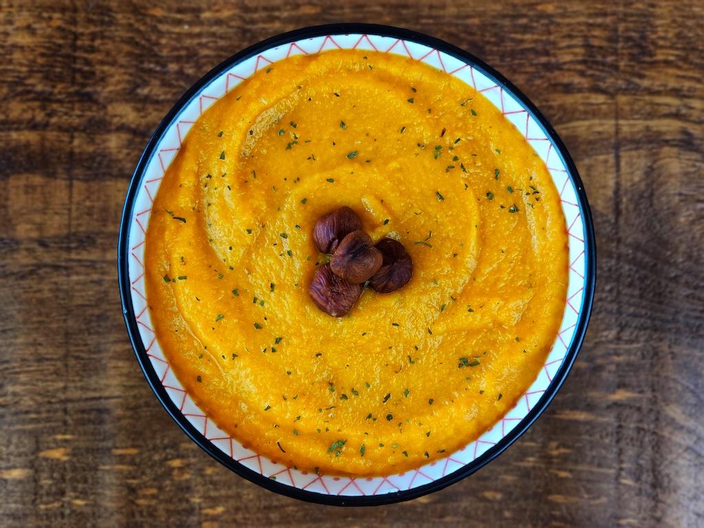 crema zanahoria vegana