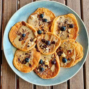 Tortitas de boniato y castaña
