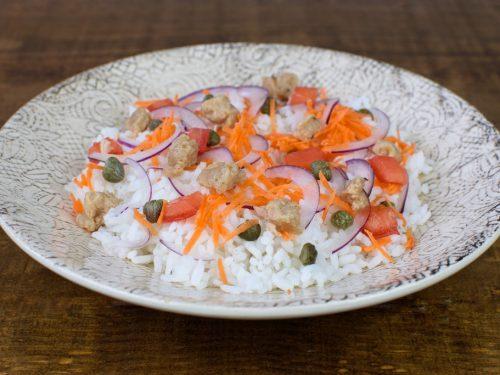 ensalada arroz soja texturizada