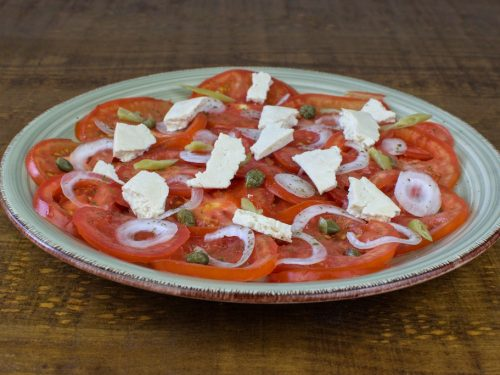 ensalada tomate tofu