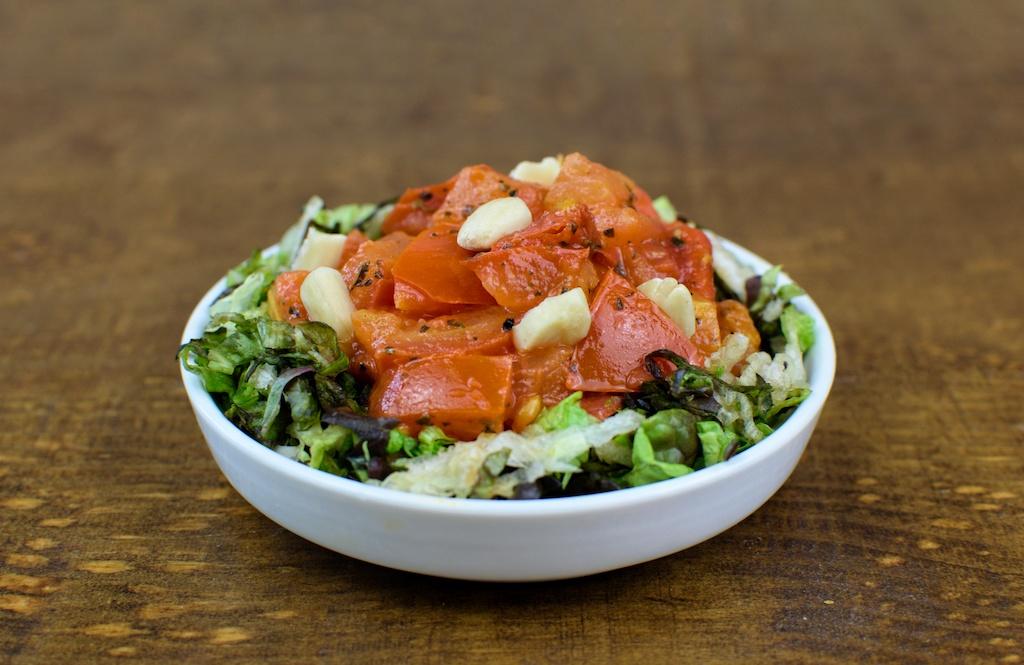 ensalada tomates confitados