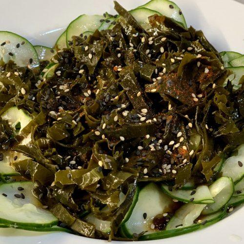Ensalada de alga wakame y pepino
