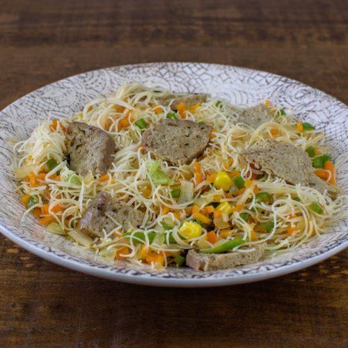 fideos arroz 3 delicias seitan