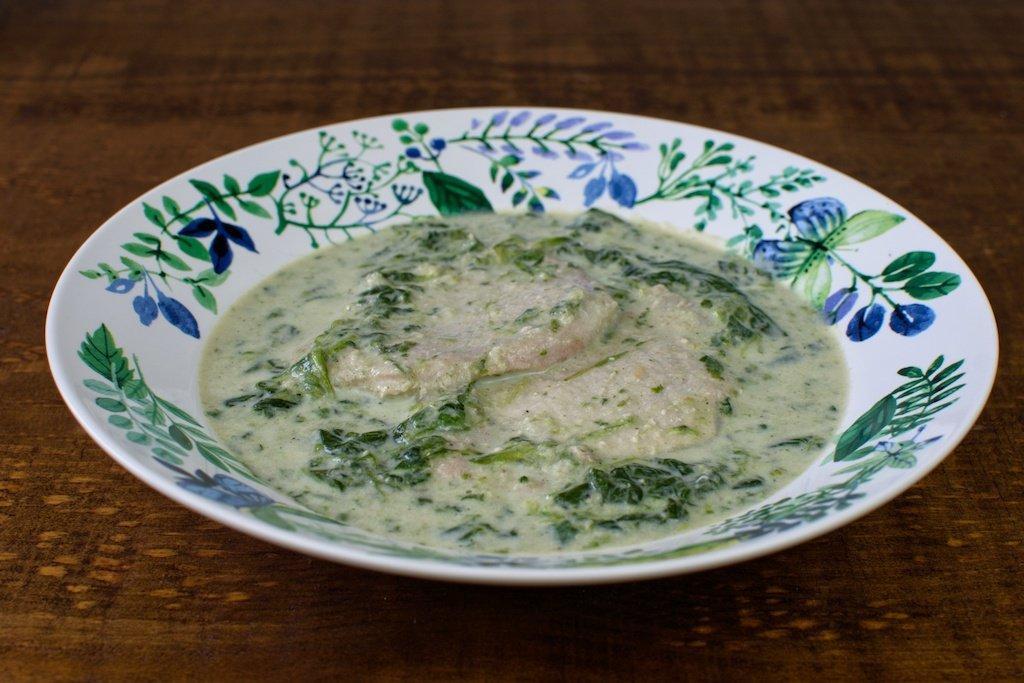 filete lomo espinacas