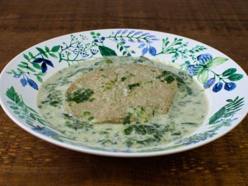 filete seitan espinacas