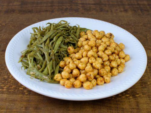 garbanzos curry judias verdes salteadas