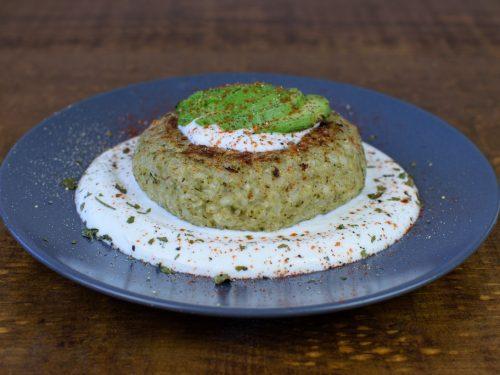 hamburguesa arroz brocoli