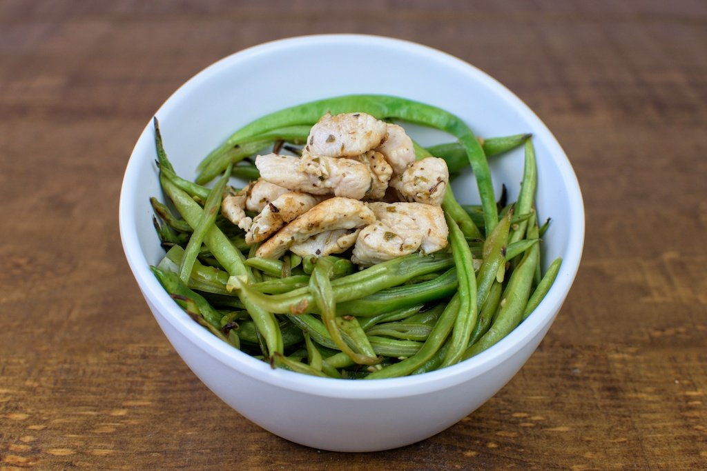 judias verdes salteadas pavo wok