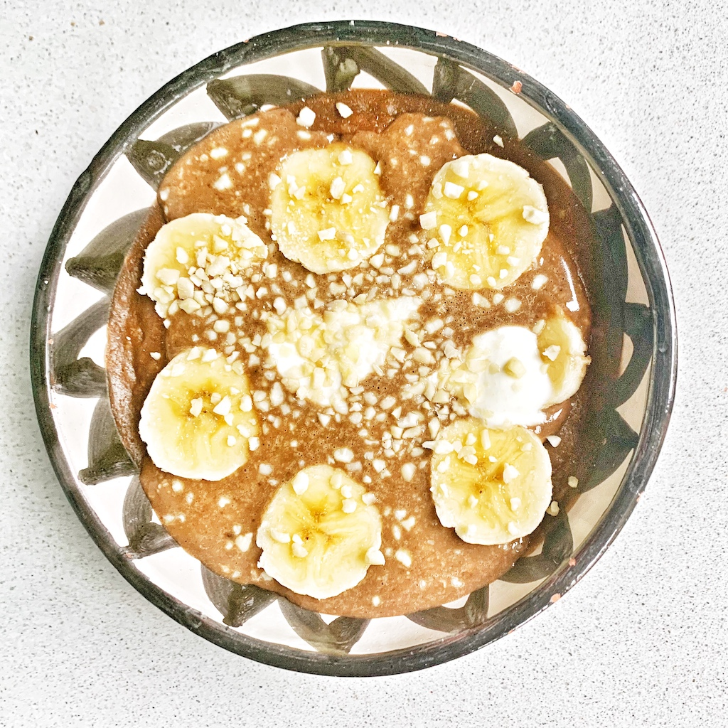 Overnight oats de avena y café
