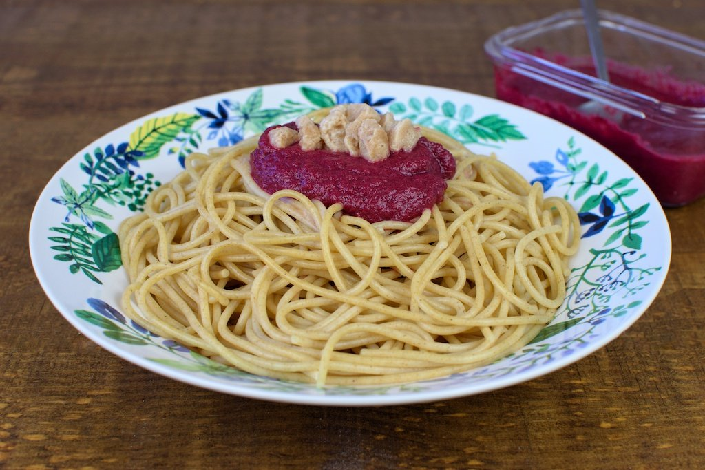 pasta salsa remolacha soja