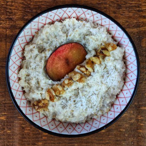 porridge avena ciruelas yogur
