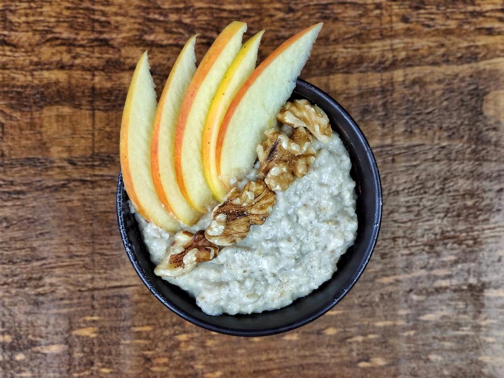 porridge avena manzana nueces