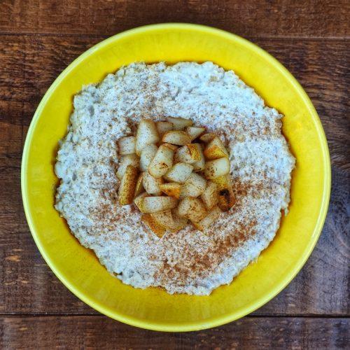 porridge avena pera skyr