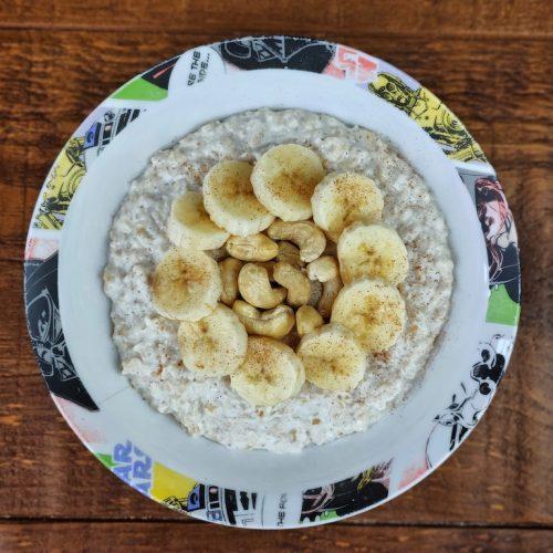 porridge avena skyr soja platano