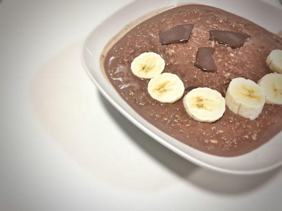 Porridge con chocolate