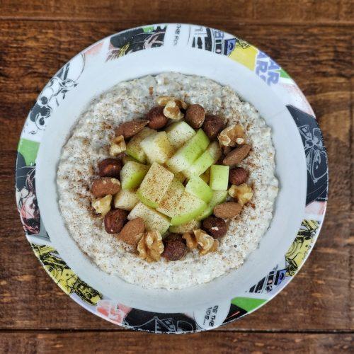 porridge frutos secos