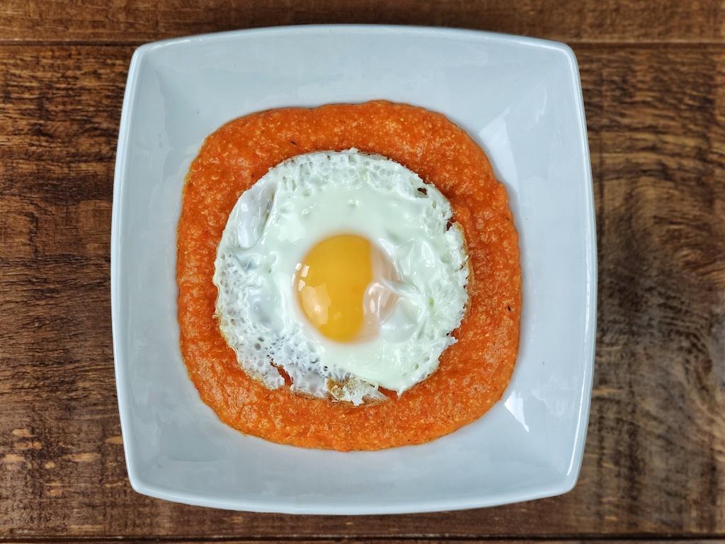 porridge piquillos huevo