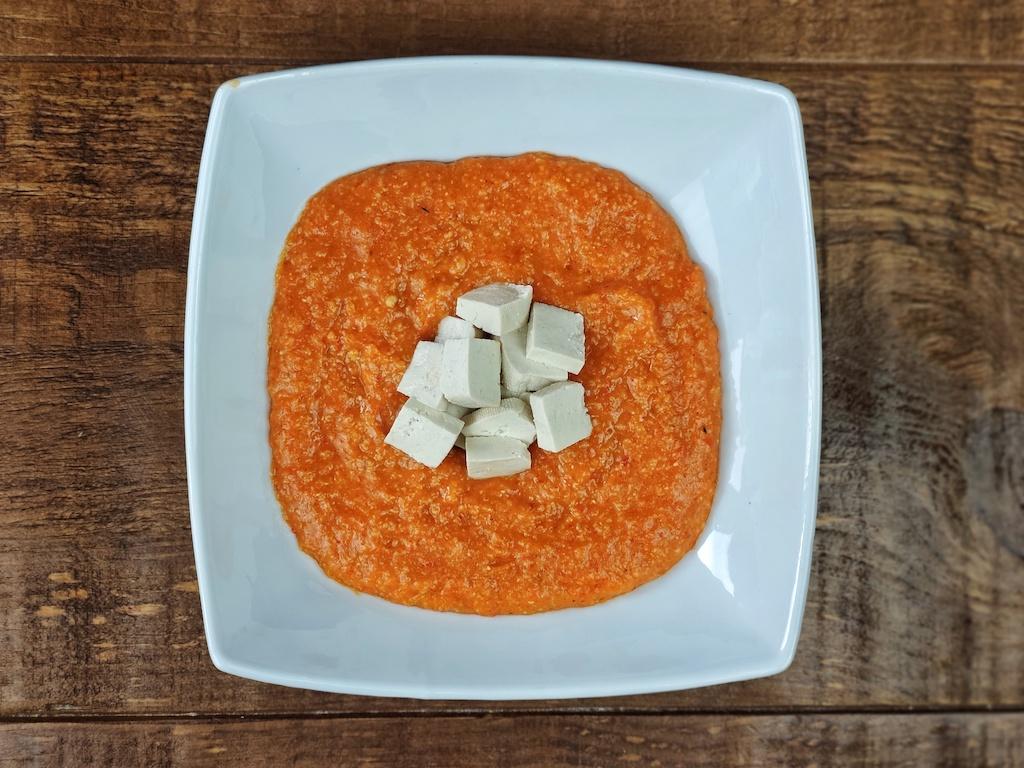 porridge piquillos tofu