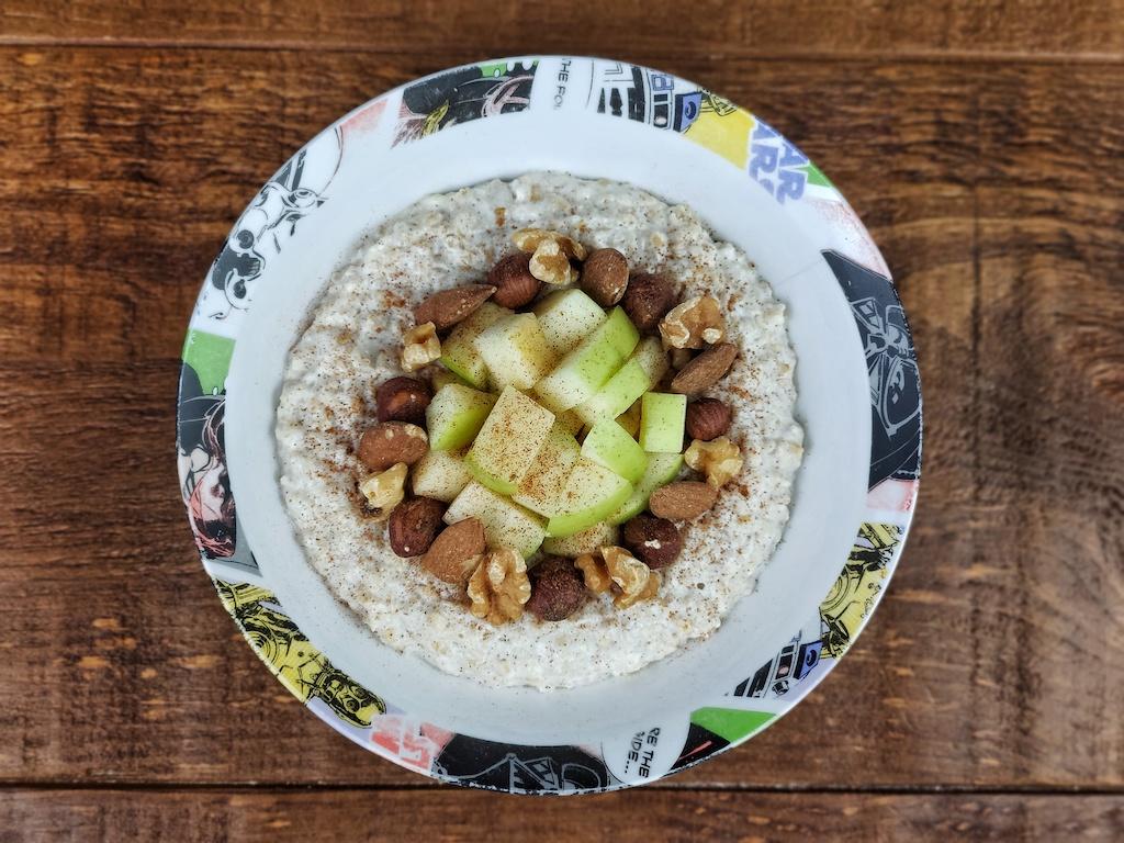 porridge vegano frutos secos
