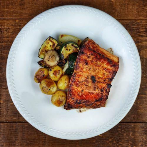salmon mantequilla soja