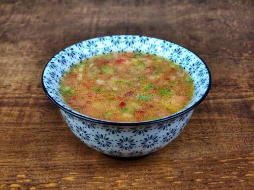 sopa fria tomate pimientos