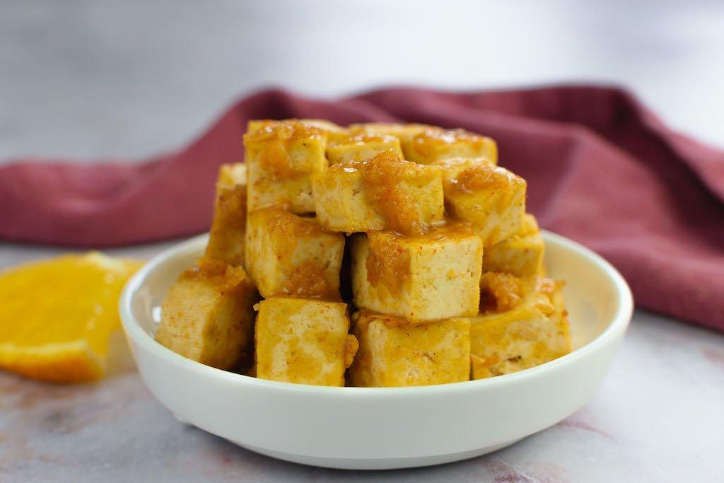 tofu naranja