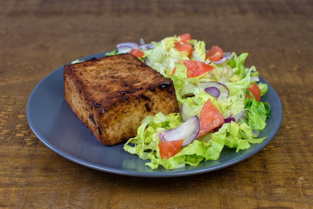 tofu marinado plancha ensalada