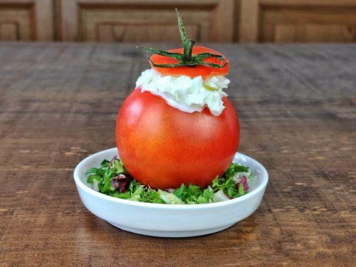tomates rellenos merluza yogur