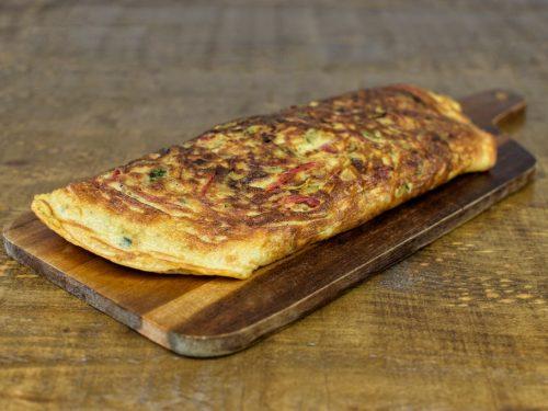 tortilla calabacin pimientos