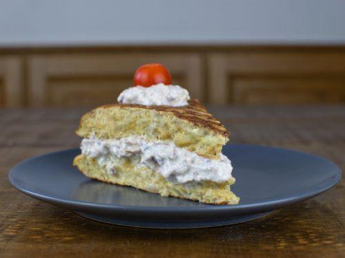 tortilla patata rellena atun vegano