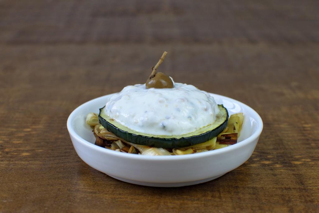 tostada calabacin soja yogur griego